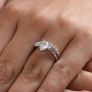 Pear shaped Wedding Ring Set Simulated Diamond CZ